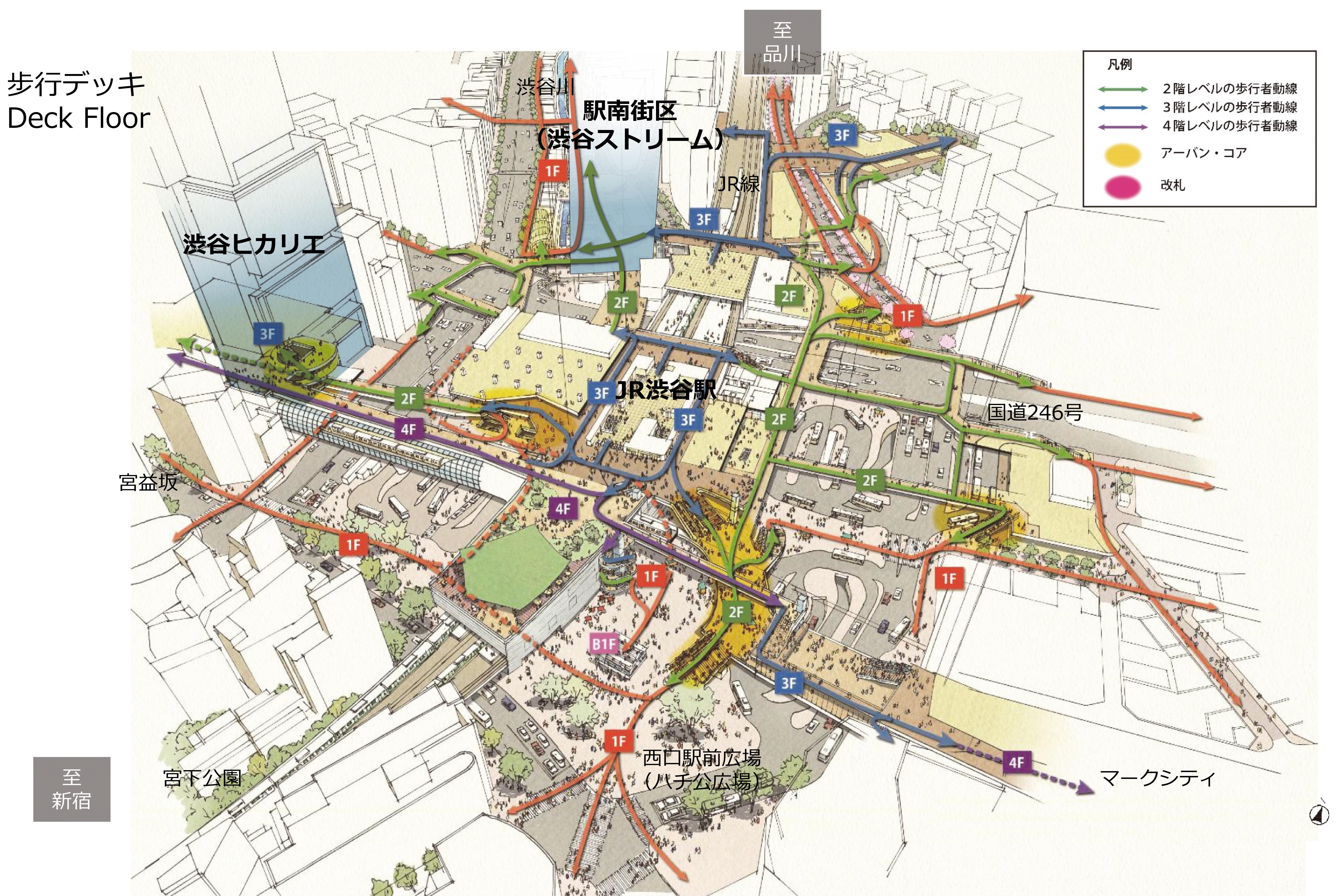 図2-1  渋谷のネットワーク(日建設計作成)