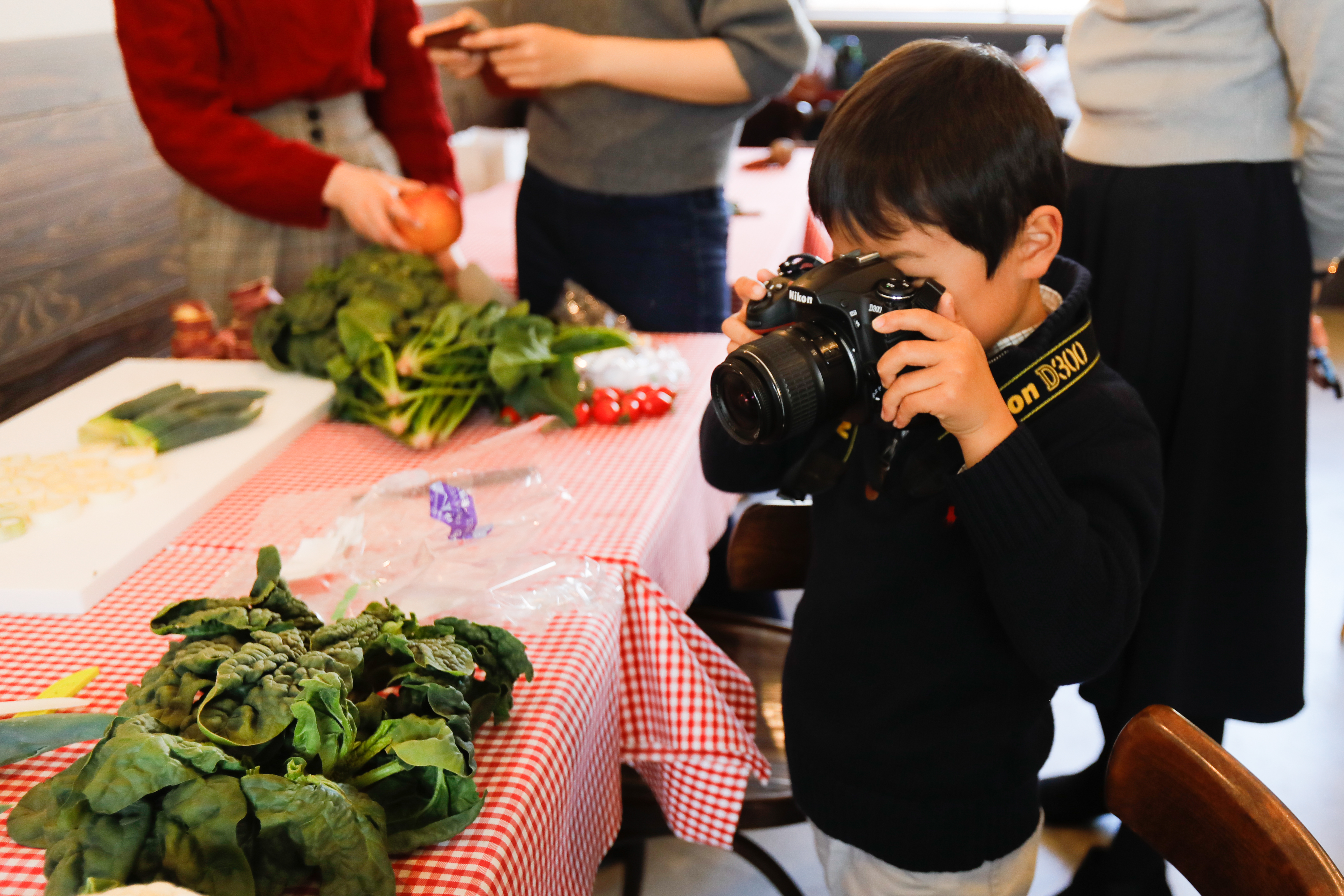 ワークショップ「まるい野菜を撮ろうの会」での様子①