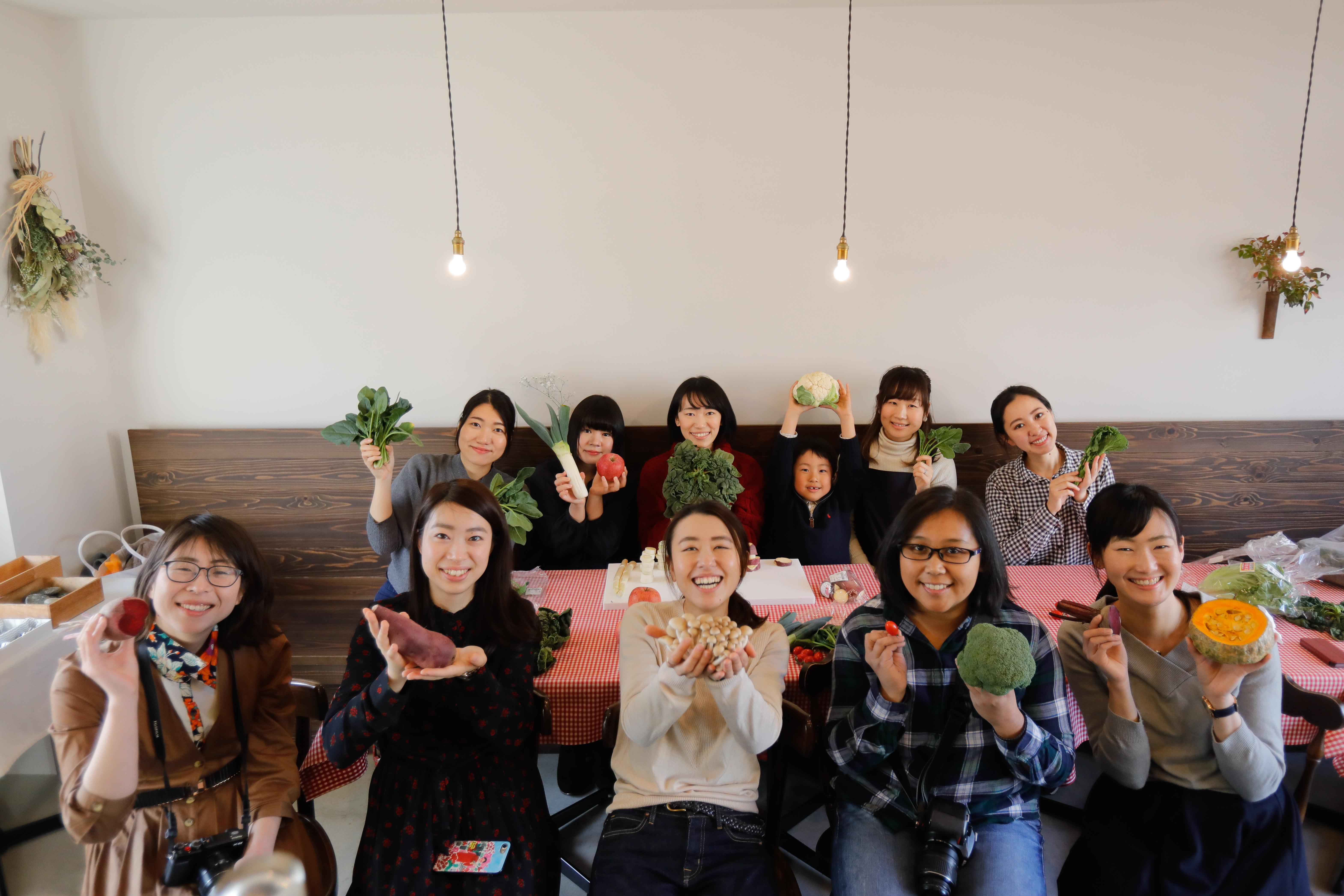 ワークショップ「まるい野菜を撮ろうの会」での様子②